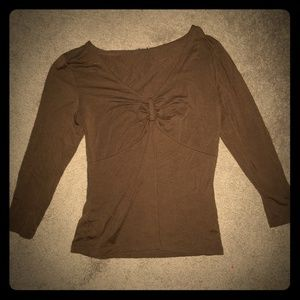 Ann Taylor brown top perfect for fall
